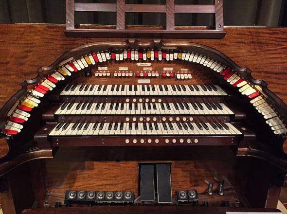 City Auditorium organ console